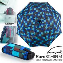 【德國 EuroSCHIRM】全世界最強的雨傘!!! DAINTY 抗UV輕便口袋傘/戶外風暴傘.玻璃纖維折疊傘(UPF50+)/輕巧迷你晴雨傘/方格亮藍 1028-CWS1