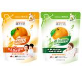 【橘子工坊】天然濃縮洗衣精補充包1500ml 天然制菌/一般潔淨(3包+3包)/組