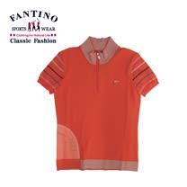 【FANTINO】女款 夏日休閒活動polo衫 (橘.黑) 277203-277204