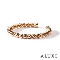 A-LUXE 亞立詩鑽石 經典百搭 18K金圓珠女戒環-活動式
