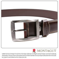 MONTAGUT夢特嬌-二層牛皮 針扣皮帶M894011