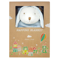 美國 Angel Dear 大頭動物嬰兒毛毯 (藍色小兔)