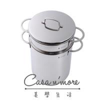 【WMF】Mini 多功能不鏽鋼煮麵鍋18 cm (附鍋蓋+濾水籃)