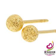 [愛無限珠寶金坊] 0.52 錢 一 對 - 初戀心語 - 黃金耳環-999.9