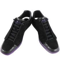 Y-3山本耀司 麂皮運動休閒鞋-黑色【男款US 6.5號】