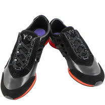Y-3山本耀司 真皮三線造型運動休閒鞋-黑色【女款US 7.5、8.5號】