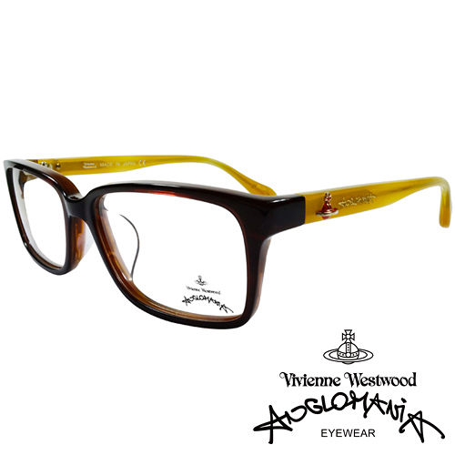 Vivienne Westwood 英國Anglomania亮眼配色光學眼鏡 琥珀 黃 A