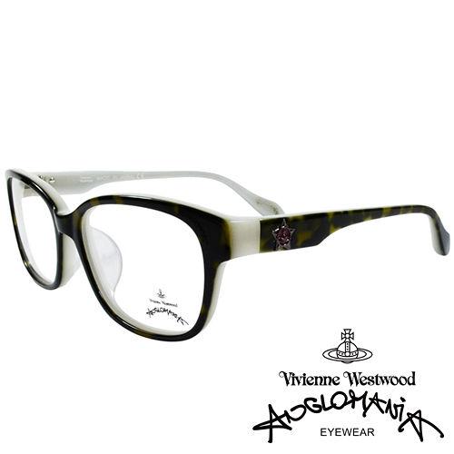 Vivienne Westwood 英國Anglomania五芒土星琥珀撞色光學眼鏡 黑琥