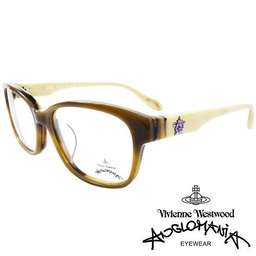 Vivienne Westwood 英國Anglomania五芒土星琥珀撞色光學眼鏡 黃琥