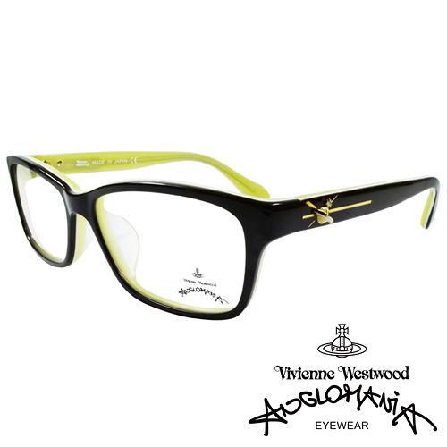 Vivienne Westwood 英國Anglomania 款俏皮土星光學眼鏡 黑 黃綠
