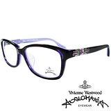 Vivienne Westwood 英國Anglomania貴氣土星★閃亮鑲鑽光學眼鏡(紫琥珀)AN28803