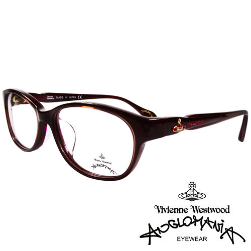 Vivienne Westwood 英國Anglomania獨特側邊流線 款光學眼鏡 咖啡