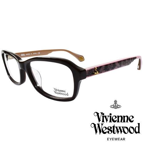 Vivienne Westwood 英國薇薇安魏斯伍德夢幻蕾絲拼接款LOGO光學眼鏡 黑