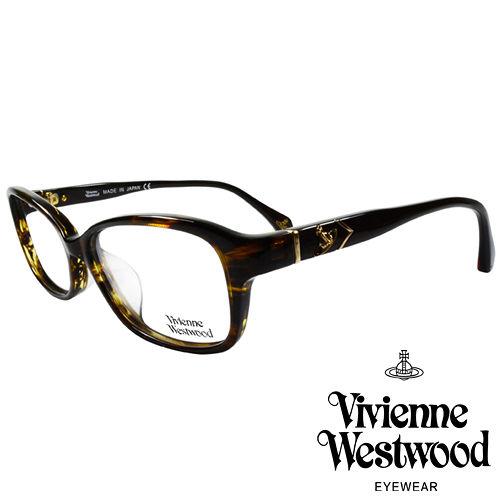 Vivienne Westwood 英國薇薇安魏斯伍德簡約 金屬浮雕土星光學眼鏡 咖琥珀