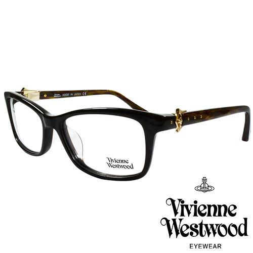 Vivienne Westwood 英國薇薇安魏斯伍德龐克土星風~側拼蕾絲光學眼鏡 黑 咖