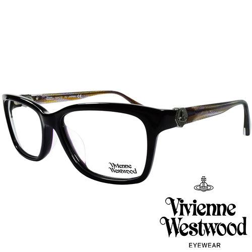 Vivienne Westwood 英國薇薇安魏斯伍德金屬土星~立體曲線光學眼鏡 黑 混色