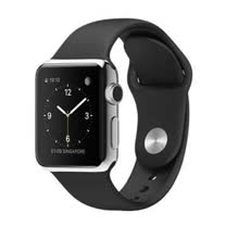 Apple WATCH 38mm/38公釐 S 不鏽鋼錶殼 黑色運動型錶帶【含螢幕保護貼+專用錶套】(MJ2Y2TA/A)