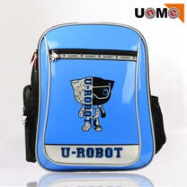 【UnMe】Robot機器人彈性肩帶後背書包(藍色)