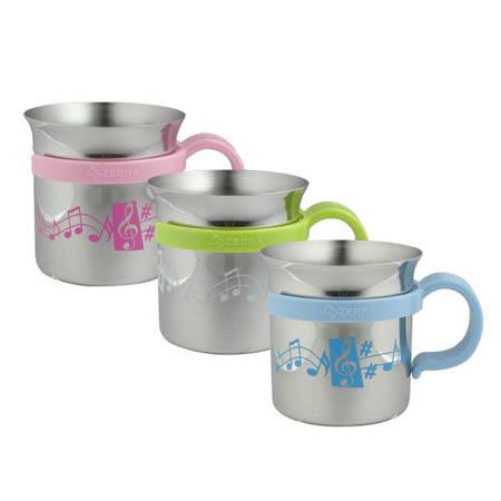 斑马牌不锈钢音悦水杯(三入组)儿童马克杯附可拆把手300cc蒸罐