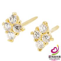 [ 愛無限珠寶金坊 ]  0.24 錢 一對 - 夢幻之城 - 黃金耳環-999.9
