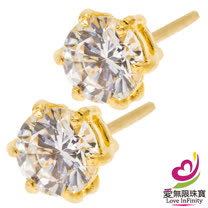 [ 愛無限珠寶金坊 ]  0.24 錢 一對 - 愛情海 - 黃金耳環-999.9