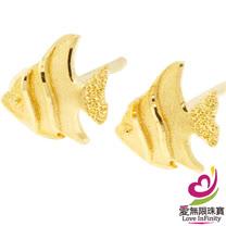[ 愛無限珠寶金坊 ]  0.27 錢 一對 - 熱帯魚 - 黃金耳環-999.9