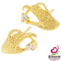 [ 愛無限珠寶金坊 ]  0.60 錢 一對 - 掌握幸福 - 黃金耳環-999.9