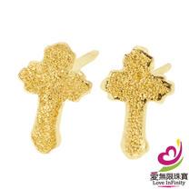 [ 愛無限珠寶金坊 ]  0.30 錢 一對 - 信仰 - 黃金耳環-999.9