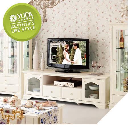 電視櫃【YUDA】 公主專屬 象牙白純白色烤漆 DG903 歐式/法式 床尾櫃/落地櫃 鄉村田園家具
