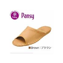 【PANSY】日本皇家品牌室內女士拖鞋-咖啡色-9505.