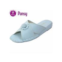 【Pansy】日本品牌 向日葵款 室內女拖鞋-8580-藍色