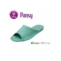 【PANSY】日本皇家品牌室內女士拖鞋-綠色-9505