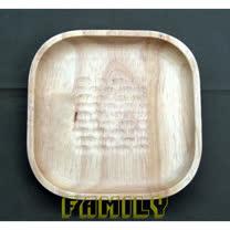 日式居家 天然木 木質餐具 - 手工家居方型碟