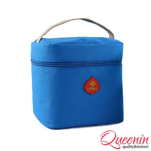 DF Queenin日韓 - 野餐 新樂趣輕便式保冷保溫袋-天空藍