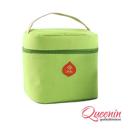 DF Queenin日韓 - 野餐 新樂趣輕便式保冷保溫袋-蘋果綠