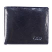 SIKA義大利素面牛皮中性短皮夾A8206-06清玉藍