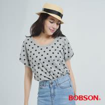 BOBSON 印點點布上衣(灰色32071-88)