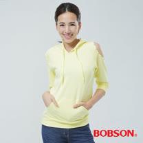 BOBSON 裸肩帽T(黃色33124-30)