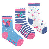 英國 JoJo Maman BeBe 柔細寶寶兒童短襪/棉襪 3入組_小鳥(JJS3-012)