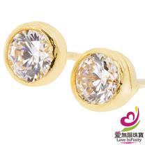 [ 愛無限珠寶金坊 ]  0.36 錢 一對 - 緣愛- 黃金耳環-999.9