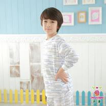 【Anny pepe】男童高鐵家居冷氣衫/米白_Modal吸濕排汗款