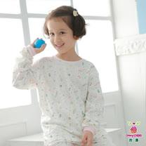 【Anny pepe】女童女孩家居冷氣衫/米白_美國精梳棉