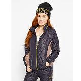 TOP GIRL羅曼豹紋抗UV輕薄風衣連帽長袖外套-黑色