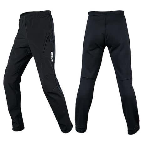 SOGK 冰河防風抓絨休閒車褲-抗寒保暖防風透氣(單車)