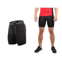 (男) FIRESTAR 機能緊身短褲-慢跑 路跑 運動短褲  黑灰