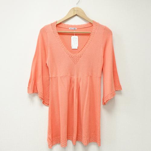 ~portcros~花邊領蕾絲袖口洋裝~橘 M