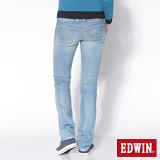 EDWIN MISS EG503窄直筒牛仔褲-女-黑色