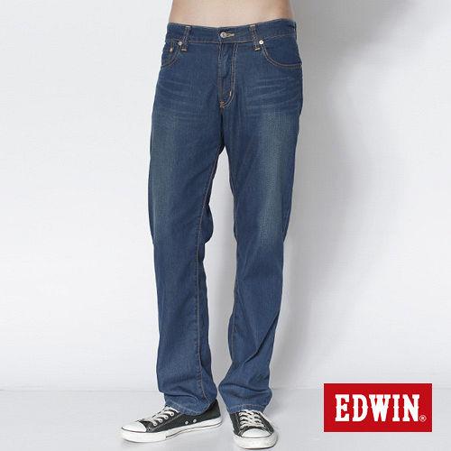 EDWIN 503 COOL RELAX天絲棉中直筒牛仔褲~男~石洗藍