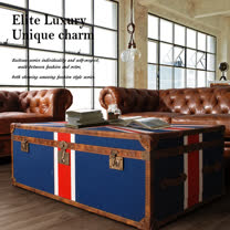 【MUSE】Cleveland克利夫蘭復古英倫國旗二抽箱桌
