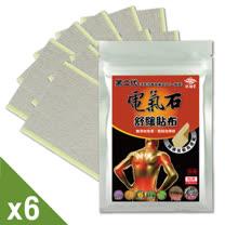 【炫煬堂】添加珍貴一條根第二代電氣石舒緩貼布(7.5X12CM-10片/包)六入舒活組